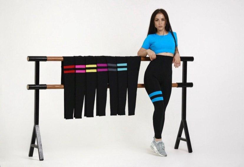Лосины FitU спортивные женские Line color